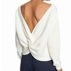 Roxy Chunky Bamboo Bridge Sweater{ Black } Size M